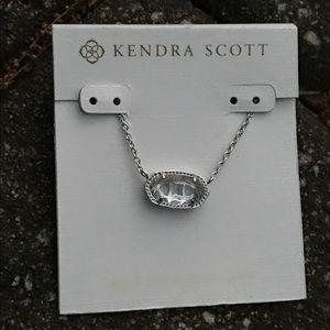 NWT Kendra Scott Clear Chrystal Pendant Necklace